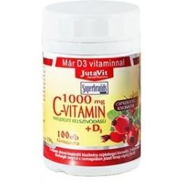 Jutavit C-vitamin 1000mg + D3-vitamin tabletta 100db