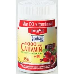 Jutavit C vitamin 1000mg +D3 vitamin 45db tabletta