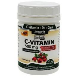 Jutavit C-vitamin 500mg + D3-vitamin tabletta  45db