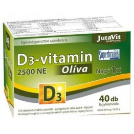 Jutavit D3-vitamin 2500NE Olíva kapszula   40db